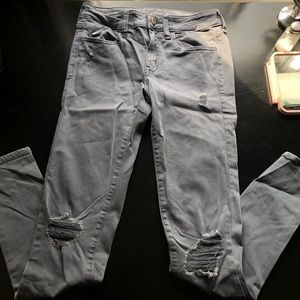 Grey ripped American Eagle jeans